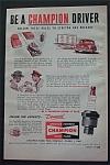 Vintage Ad: 1950 Champion Spark Plugs