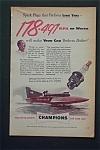 Vintage Ad: 1952 Champion Spark Plugs W/ Guy Lombardo