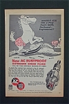 1955 Ac Marine Spark Plugs With Horse On Water Skis