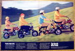 1970 Honda Mini Trail Motor Bike With Family