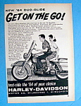 1964 Harley-davidson Duo-glide Motorcycle W/man & Woman