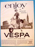 1956 Vespa With Woman On The Bike