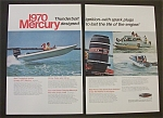 Vintage Ad: 1970 Mercury (2 Pages)