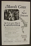 1926 Southern Pacific Lines With New Orleans Mardi Gras
