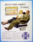 1948 Santa Fe With Man And Woman On El Capitan
