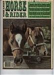 Horse& Rider - April 1986