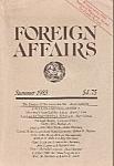 Foreign Affairs Book/magazine - Summer 1983
