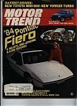 Motor Trend Magazine- September 1983