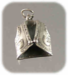 3-dimensional Sterling Embroidered Vest Charm
