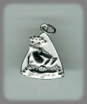 Sterling And Enamel Frog Prince Charm