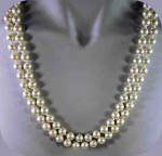 Elegant 2-strand Faux Pearl Knotted Necklace
