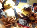 Teddy Bear, Independence Day Pair W/ Tags