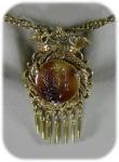 Vintage Florenza Intaglio Brooch/necklace