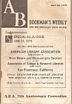 Bookman's Weekly = May 26, 1975