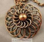 Vintage Rebajes Copper Coils Pendant Necklace