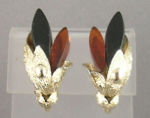 Coro Gold And Topaz Clip Earrings