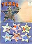 1952 Texas Souvenir Picture Folder Lithograph Pc
