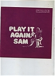 Play It Again, Sam Theatre Program Vintage