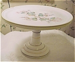 Victorian Milk Glass Cake Plate