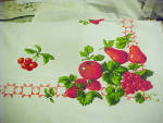 Vintage Tablecloth With Fruit