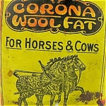 Veterinary Tin Corona Wool Fat 1906