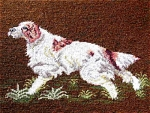 Giant English Setter Dog Embroidery Old
