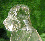 Boyds Glass Dog Candy Container
