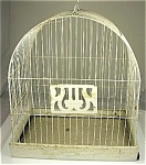 White Hendryx Antique Bird Cage