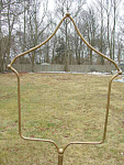 Massive Faux Brass Antique Bird Cage Stand