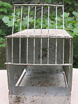 Antique Pet Shop Bird Home Carry Cage 1940c