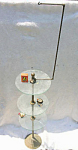 Bird Cage Stand Antique Brass & Glass 3 Tier Table Stand