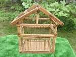 Antique Canary Bird Cage Primitive Coal Mine Tramp Art Hobo