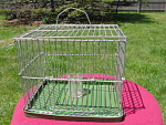 Vintage Canary Transport Pet Bird Cage