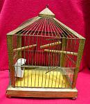 Antique Bird Cage Hammered Art Deco Birdcage
