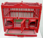 Antique Bird Cage Massive Wood & Wire Breeder
