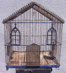 Bluebird Antique Gothic Cathedral Bird Cage