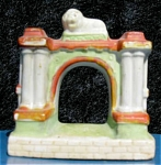 Vintage Aquarium Ornament Lion Atop Gate