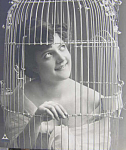 Beauty In A Birdcage Postcard 1905