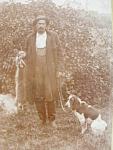 Antique Victorian Coon Hunter Trapper Hound Dog ...