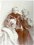 California Kinder Cabinet Card Antique Photograph Great Dog