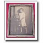 Edwardian Antique Picture Frame Photograph Girl & Pet Canary, Bird ...