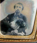 Dog Gent Antique Ambrotype Photograph