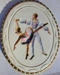 Ballet Dancer Art Plaque Intaglio