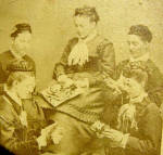 Sewing Circle Victorian Photo 1870c
