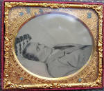 Civil War Era Post Mortem Ruby Ambrotype Photograph