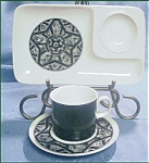 Sango Limbo 202 Cup, Saucer And Snack Tray Set