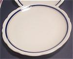 Blue/tan Scalloped Syracuse China Salad Dessert Plates