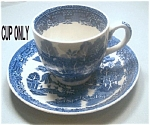 Woods Ware Blue Willow Demitasse Cup
