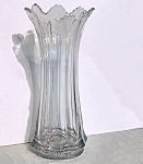 Large 3 Mold Blown Glass Vase - Possible Heisey