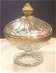 Tiffin Gold Encrusted Candy Dish With Lid